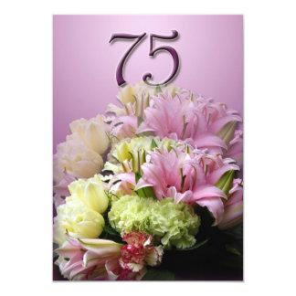 75.o Invitación de la fiesta de cumpleaños - ramo