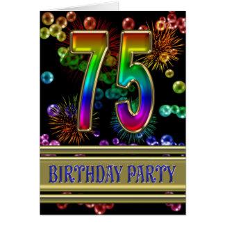 75.o Invitación de la fiesta de cumpleaños Felicitaciones
