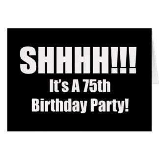 75.o Invitación del fiesta de sorpresa del cumplea Tarjeta De Felicitación