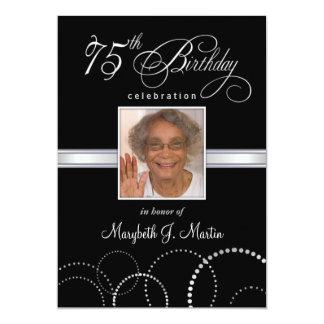 75.o Invitaciones de la fiesta de cumpleaños con Invitación 12,7 X 17,8 Cm