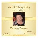 75.o Invitaciones de la fiesta de cumpleaños - fot Invitaciones Personales
