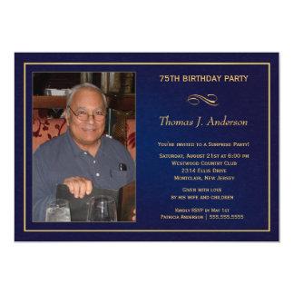 75.o Las invitaciones de la fiesta de cumpleaños - Invitación 12,7 X 17,8 Cm
