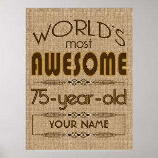 75.o Mundo de la celebración del cumpleaños mejor  Póster