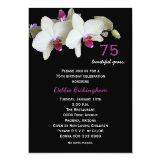 75.o Orquídeas de la invitación de la fiesta de