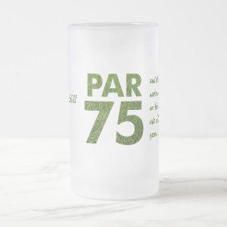 75.o par 75 de la fiesta de cumpleaños de los taza de cristal