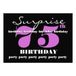 75.o Plantilla púrpura de la fiesta de cumpleaños  Anuncios