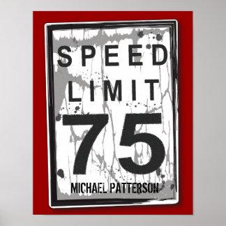 75.o Poster sucio divertido de la muestra del lími