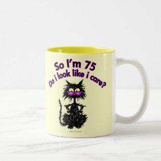 75 o Regalos del gato del cumpleaños Taza