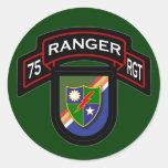 75.o Regimiento de guardabosques - Pegatina Redonda