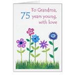 75.o Tarjeta de cumpleaños para una abuela - flore