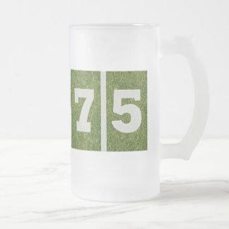 75.o Taza del vidrio del cumpleaños