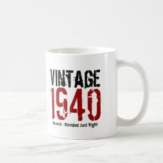 75.o Vintage del cumpleaños 1940 o cualesquiera Taza