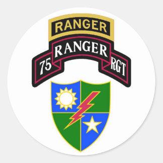 75.o Voluta del regimiento de guardabosques de la Pegatina Redonda