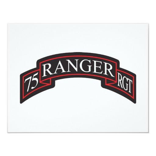"""75.o Voluta del regimiento de guardabosques Invitación 4.25"""" X 5.5"""""""