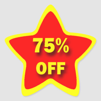 75% OFF Star Stickers