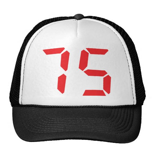 75 setenta y cinco números digitales del despertad gorras