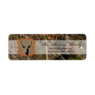 ".75""x2.25"" Return Address Label Hunting Deer Buck"