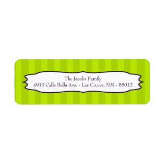 ".75""x2.25"" Return Address Label Lime Green Purple"