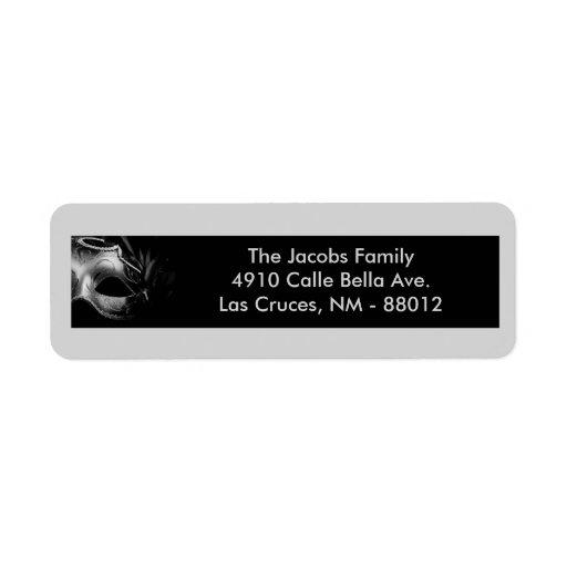 ".75""x2.25"" Return Address Label Mis XV Silver"