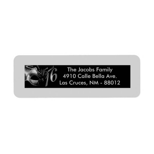 ".75""x2.25"" Return Address Label Sweet 16 Silver"