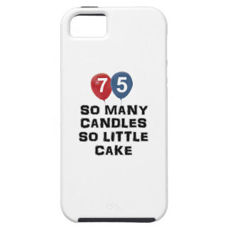 75 year old candle designs iPhone SE/5/5s case