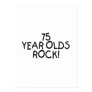 75 Year Olds Rock Postcard