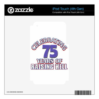 75 years of raising hell decals for iPod touch 4G