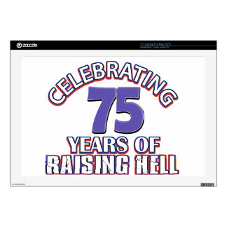 75 years of raising hell skin for laptop