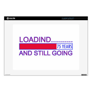 """75 YEARS OLD BIRTHDAY DESIGNS 15"""" LAPTOP DECAL"""