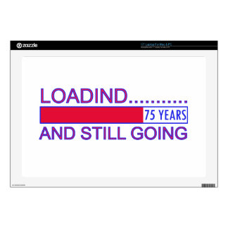 75 YEARS OLD BIRTHDAY DESIGNS LAPTOP DECAL