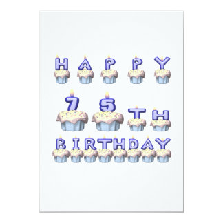 75 Years Old Card