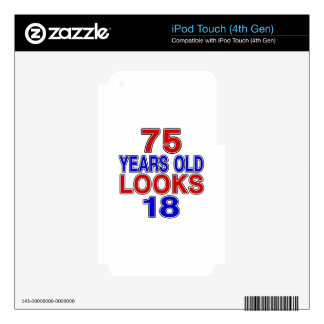 75 Years Old Looks 18 iPod Touch 4G Skins