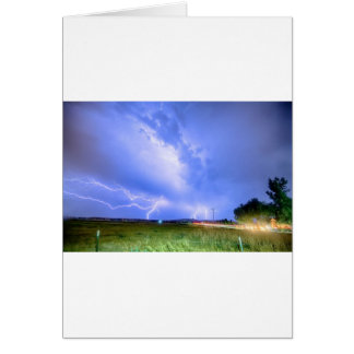 75th and Woodland Lightning Thunderstorm View HDR Greeting Cards