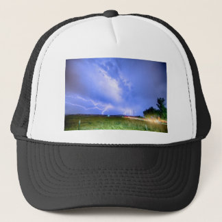 75th and Woodland Lightning Thunderstorm View HDR Trucker Hat