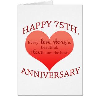 75th. Anniversary Card