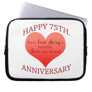 75th. Anniversary Laptop Sleeve