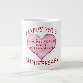 75th. Anniversary Large Coffee Mug