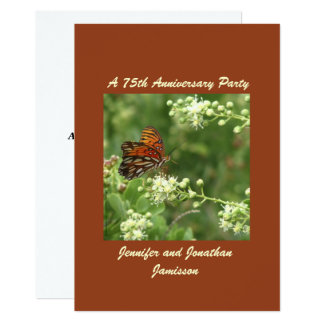 75th Anniversary Party Invitation Butterfly