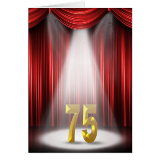 75th Anniversary Spotlight Congratulations Card