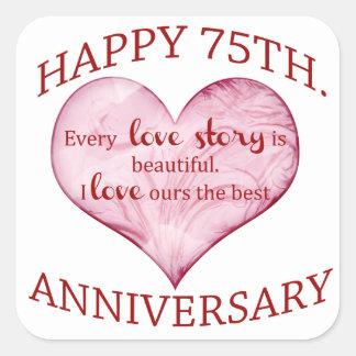 75th. Anniversary Square Sticker