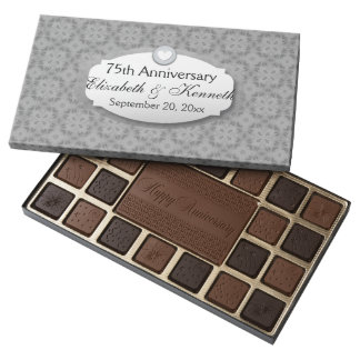 75th Anniversary Wedding Anniversary Diamond Z04 Assorted Chocolates