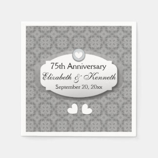 75th Anniversary Wedding Anniversary Diamond Z04 Paper Napkin