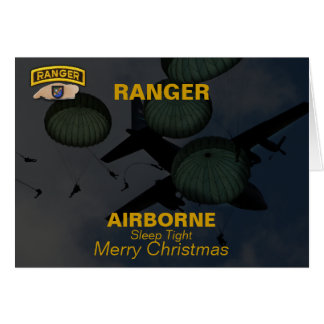 75th army airborne ranger christmas vets Card
