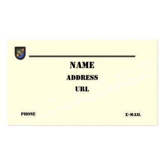 75th Army Rangers airborne  vets patch business Ca Business Card