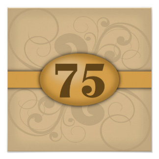 75th Birthday / Anniversary Party Poster