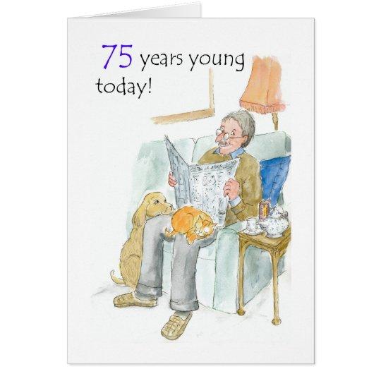 75th Birthday Card for a Man