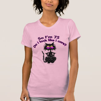 75th Birthday Cat Gifts T-Shirt