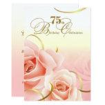 75th Birthday Celebration Custom Invitations