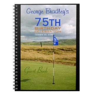 75th Birthday Celebration Golf Guest Book