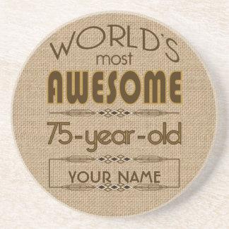 75th Birthday Celebration World Best Fabulous Coaster
